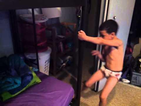 Little boy acting like a stripper epic fail