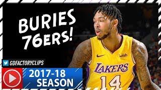 Brandon Ingram Full Highlights vs Sixers (2017.12.07) - 21 Pts, 7 Reb, GAME-WINNER!