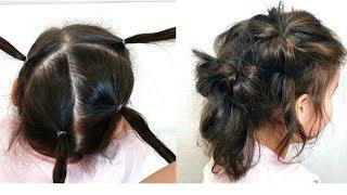 Прическа на Тонкие Волосы для девочки.БЕЗ ВСЯКИХ ЗАМОРОЧЕК.Quick Hairstyle for the Girl on Thin Hair