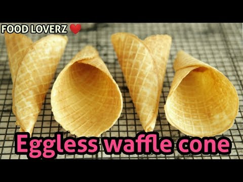 Home-made Eggless Waffle Cones