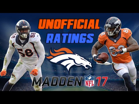 Top 5 Denver Broncos in MUT 17! | Madden 17 Ultimate Team - Unofficial Ratings