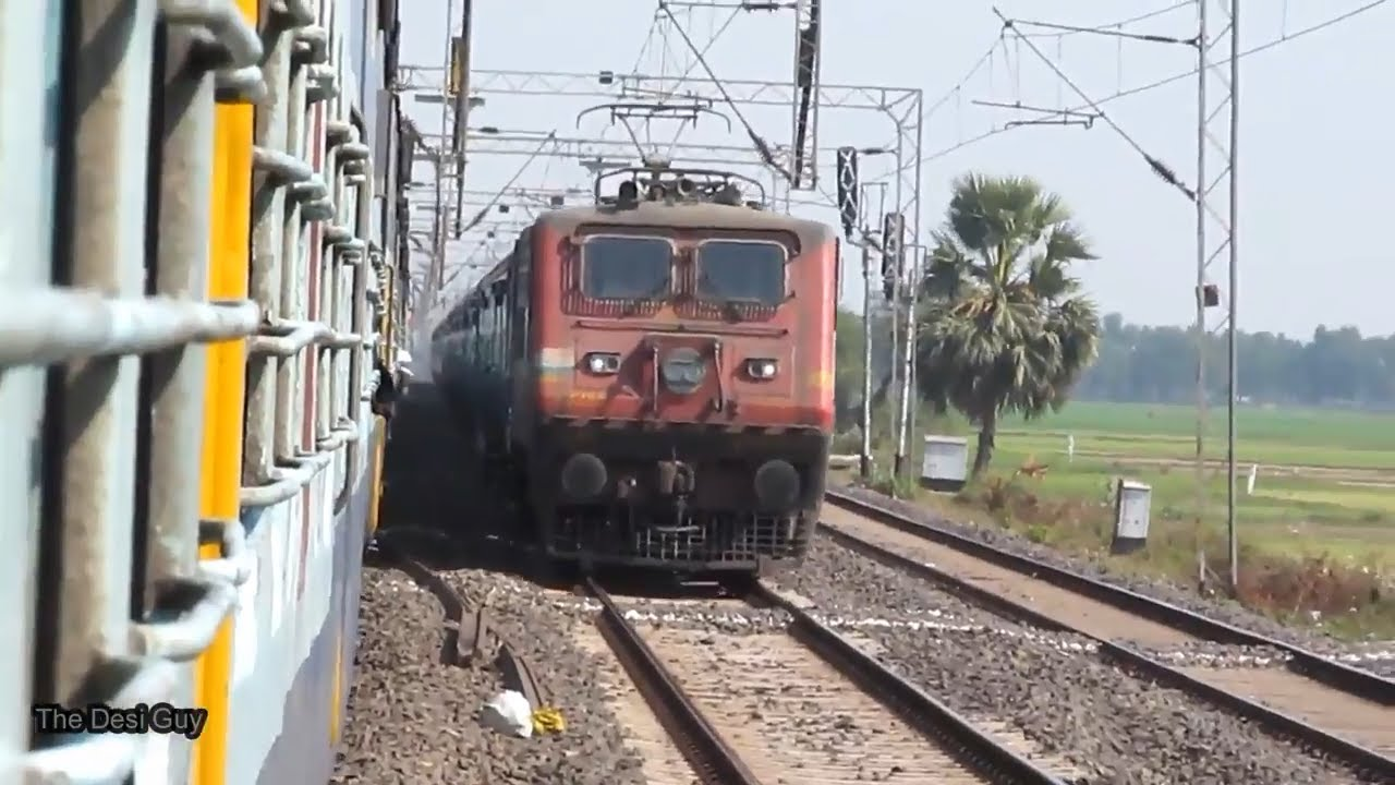 [4 in 1] Train meet trains || High speed crossing || Indian railways