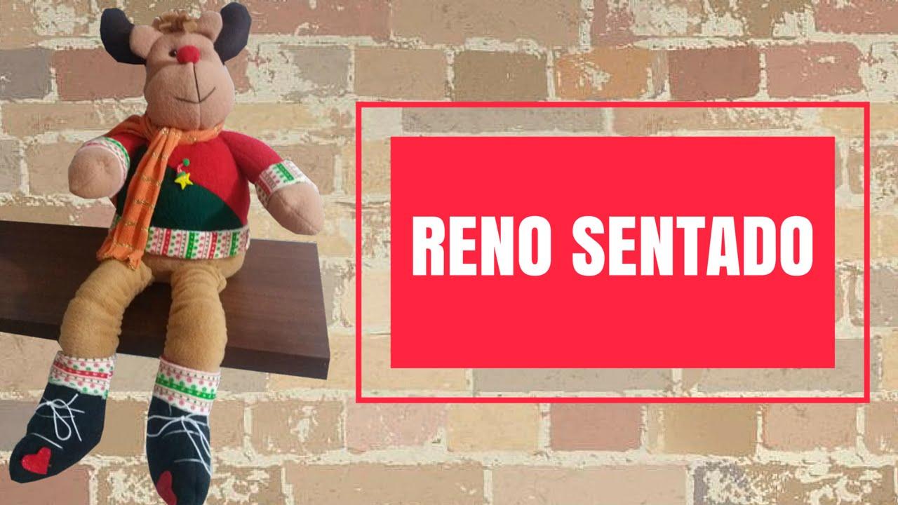 RENO SENTADO COLORES | ARTE JESICA| MUÑEQUERIA EN TELA - YouTube