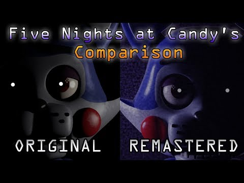 FIVE NIGHTS AT CANDY'S: ORIGINAL AND REMASTERED (COMPARISON/COMPARACIÓN)