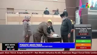 Pendapat Akhir Fraksi, DPRD Kendari Setujui Pertanggungjawaban APBD Pemkot Kendari