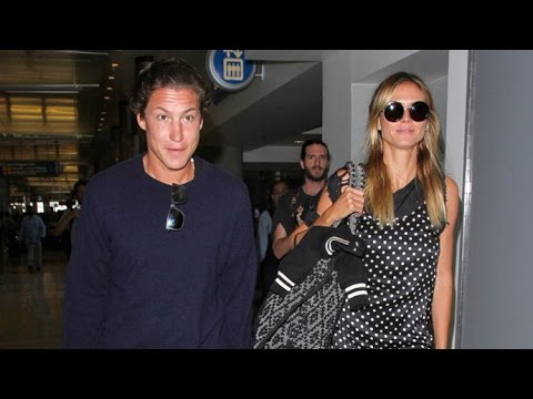 Heidi Klum Chic In Polka Dots Going For Romantic Vacation With Vito Schnabel