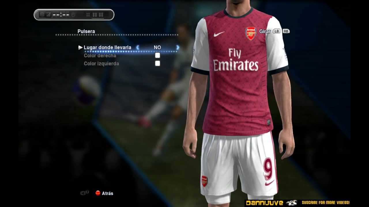 separation shoes f18d3 959f4 PES 2013 - Arsenal New Home Kit 2013/2014 [HD]