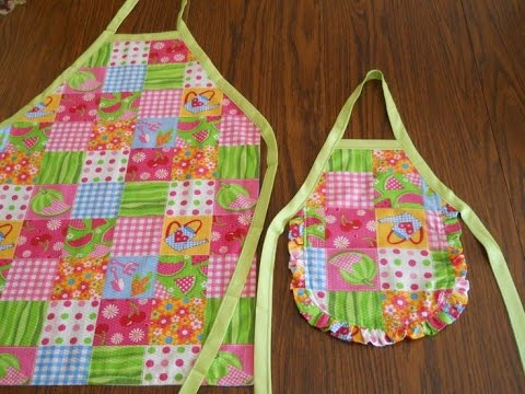 How To Make Aprons Without Pattern Youtube