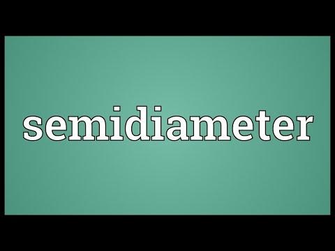 Header of semidiameter