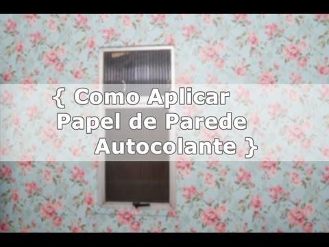 Como aplicar papel de parede autocolante papel e parede - Papel adhesivo para paredes ...