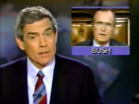 Rather-Bush Tiff The Day After - CBS Evening News