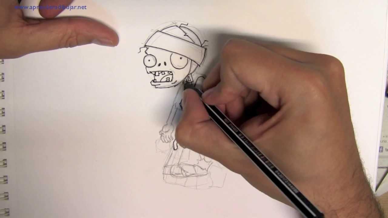 Como Dibujar Un Zombie Momia Del Juego Plantas Vs Zombies By Dibujos Para Pintar