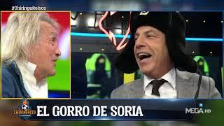 Soria irrumpió el plató con un gorro moscovita tras la derrota del Madrid ante el CSKA