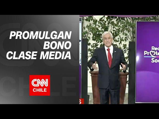 Pdte. Piñera promulga ley de Bono Clase Media 2021 y Préstamo Solidario