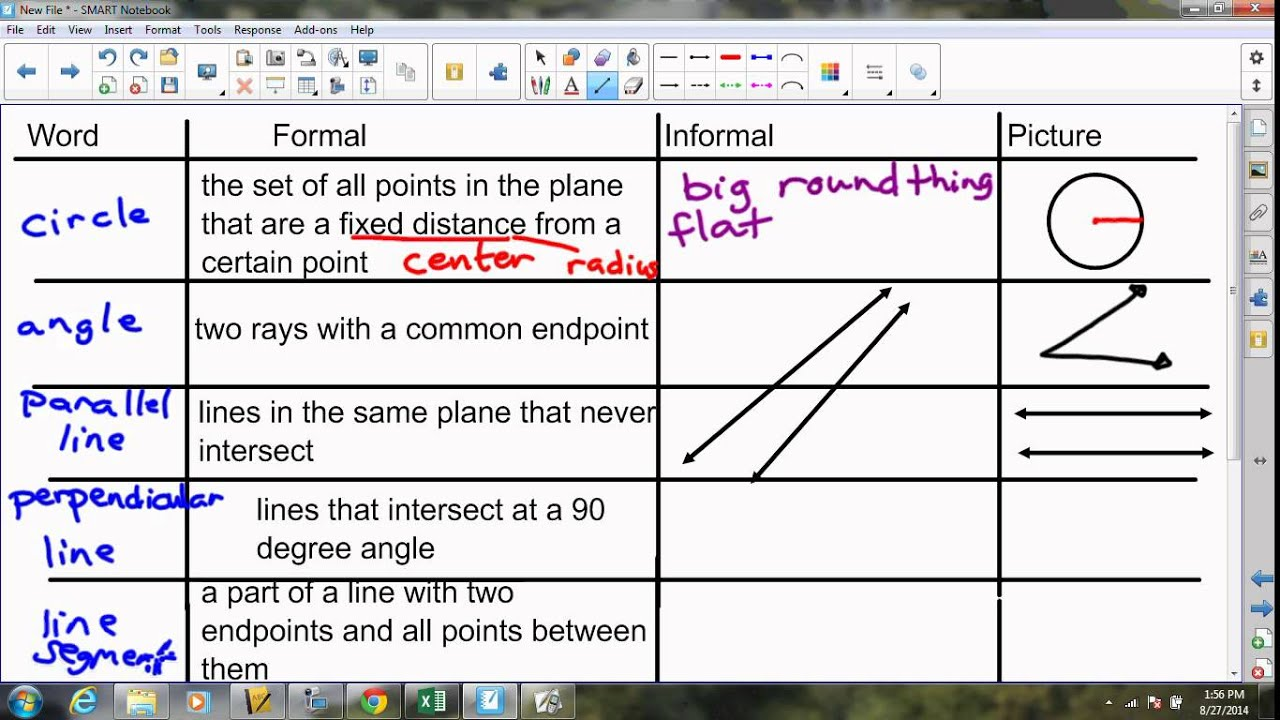 Geometry G1 Precise Definitions Youtube