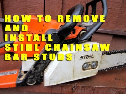 How To Remove & Install Stihl Chainsaw Bar Studs