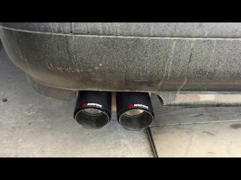 BMW 528i E39 звук выхлопа в гараже