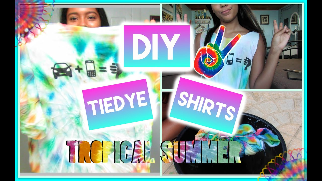 DIY Summer Tie dye shirt W/ food coloring! - YouTube