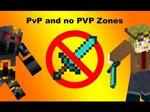 PvP And Non PVP Zones In Vanilla Minecraft