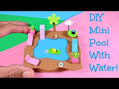 DIY Miniature Pool with Water