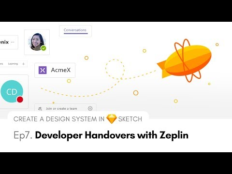 Developer Handovers With Zeplin - Create A Design System In Sketch, Ep7