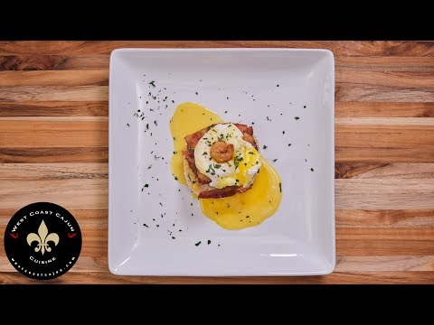 Shrimp Eggs Benedict With Smoked Bacon