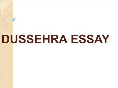 short note on dussehra