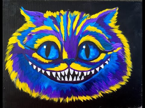 Learn to Paint for Beginners Cheshire Cat Alice in Wonderland