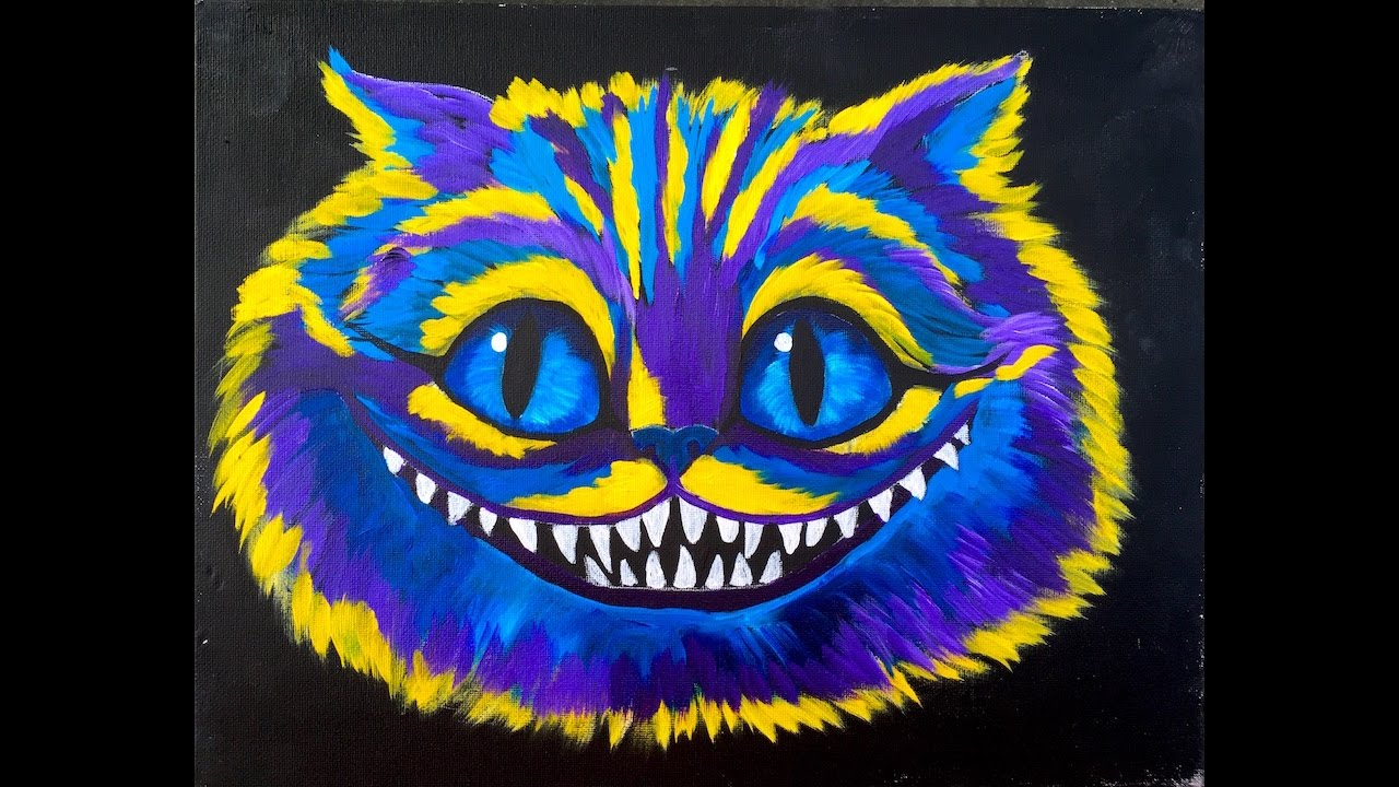 Learn To Paint For Beginners Cheshire Cat Alice In