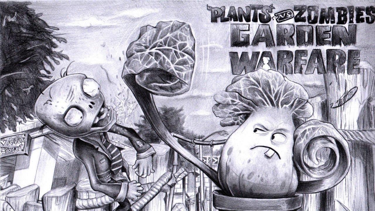 Drawing Plants Vs Zombies Garden Warfare