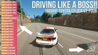 Forza Horizon 4 DRIVING LIKE A BOSS!! 1600HP Toyota Celica around GOLIATH!!!