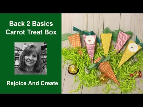 Back 2 Basics Carrot Cone Box for Easter
