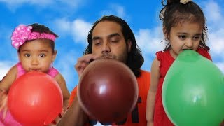 Learn Colors with Rufi Ishfi & Balloons / Baby Nursery Rhymes Finger Family Song