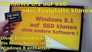 Windows 8.1 Festplatte auf SSD / HDD kopieren klonen ohne Extrasoftware - [English subtitles]