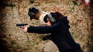 Dynamic Glock Shooting Drill at European Security Academy - Iwona