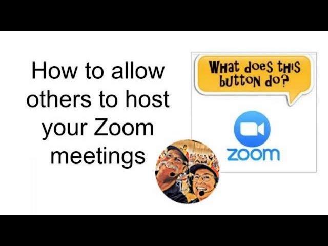 Zoom Meetings - How Do I Use Claim Host? Tutorial Video 629