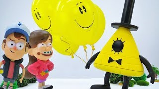 Мультик с игрушками из Гравити Фолз - Диппер и воздушные шары