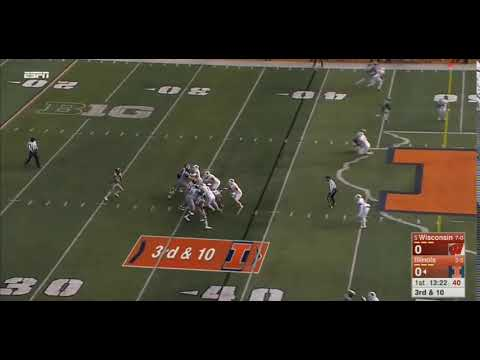 Jeff George Jr. INT vs Wisconsin