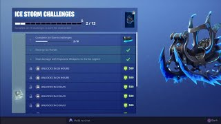 Fortnite - How to Complete New Ice Storm Challenges