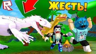 ЛАГЕРЬ С ДИНОЗАВРАМИ в РОБЛОКС CAMPING Roblox TIME TRAVEL ADVENTURES Dinosaur Extinction КОТ ЛАЙК