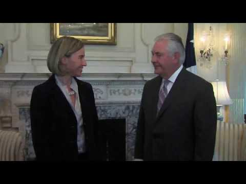 Secretary of State Rex Tillerson meets with European Union High Representative Federica Mogherini