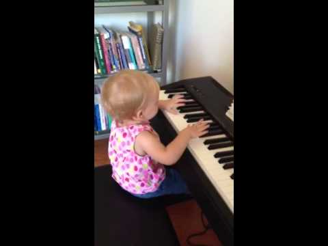 Sofia Grace tickles the ivories