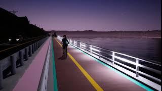 의암댐 자전거도로 보안등 설계-1