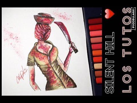 SILENT HILL NURSE DRAW  ENFERMERA  DIBUJO  YouTube