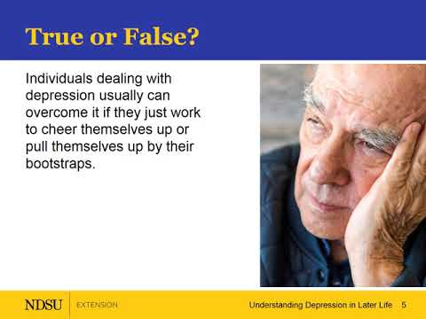 Understanding Depression in Later Life – Myths and Realities