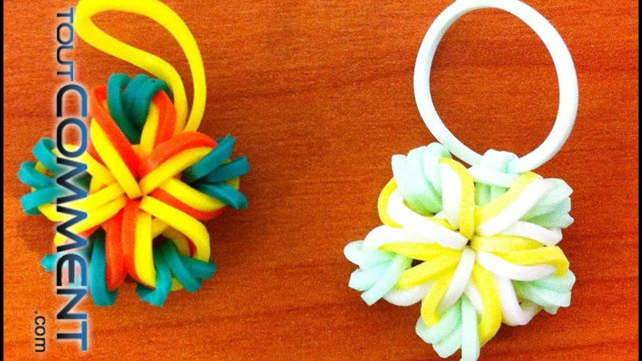 Fleur 5 p tales rainbow loom tutoriel en fran ais youtube - Comment faire une fleur en elastique ...
