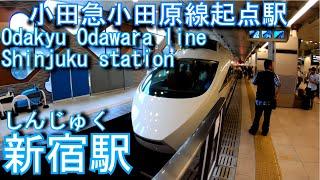 【小田急小田原線 起点駅】新宿駅を歩いてみた Shinjuku station Odakyu Odawara line