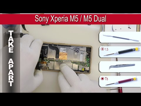 How to disassemble 📱 Sony Xperia M5 / M5 Dual, E5603, E5606, E5653, E5633, E5643, E5663 Take apart