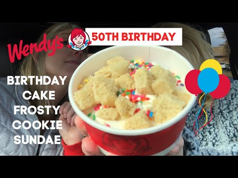 Wendy's BIRTHDAY CAKE FROSTY COOKIE SUNDAE Review