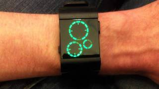 Kisai Satellite Black Green LED Watch Design From Tokyoflash Japan